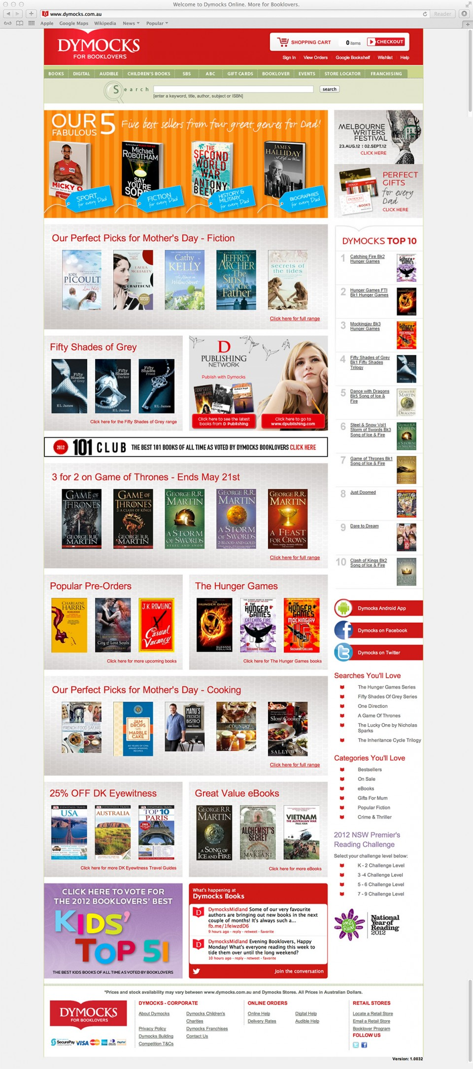 Dymocks Homepage
