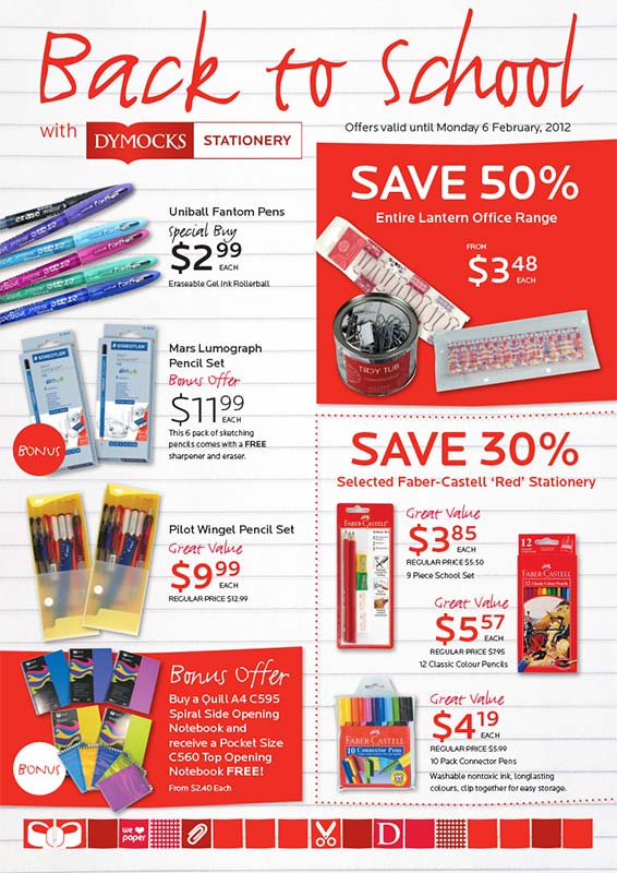 Dymocks Stationery Back to School 2012 - Page 1