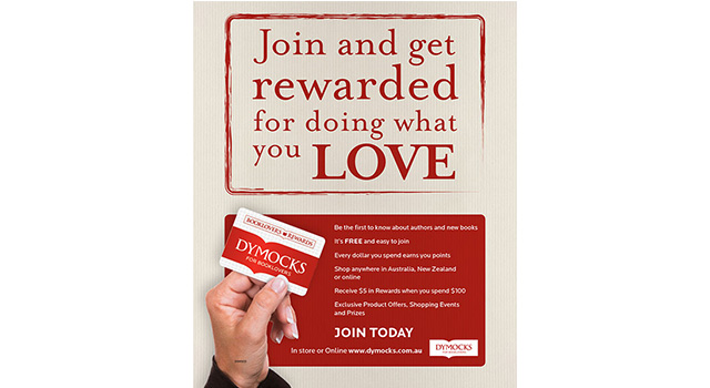 Dymocks Booklovers' loyalty program promotional poster