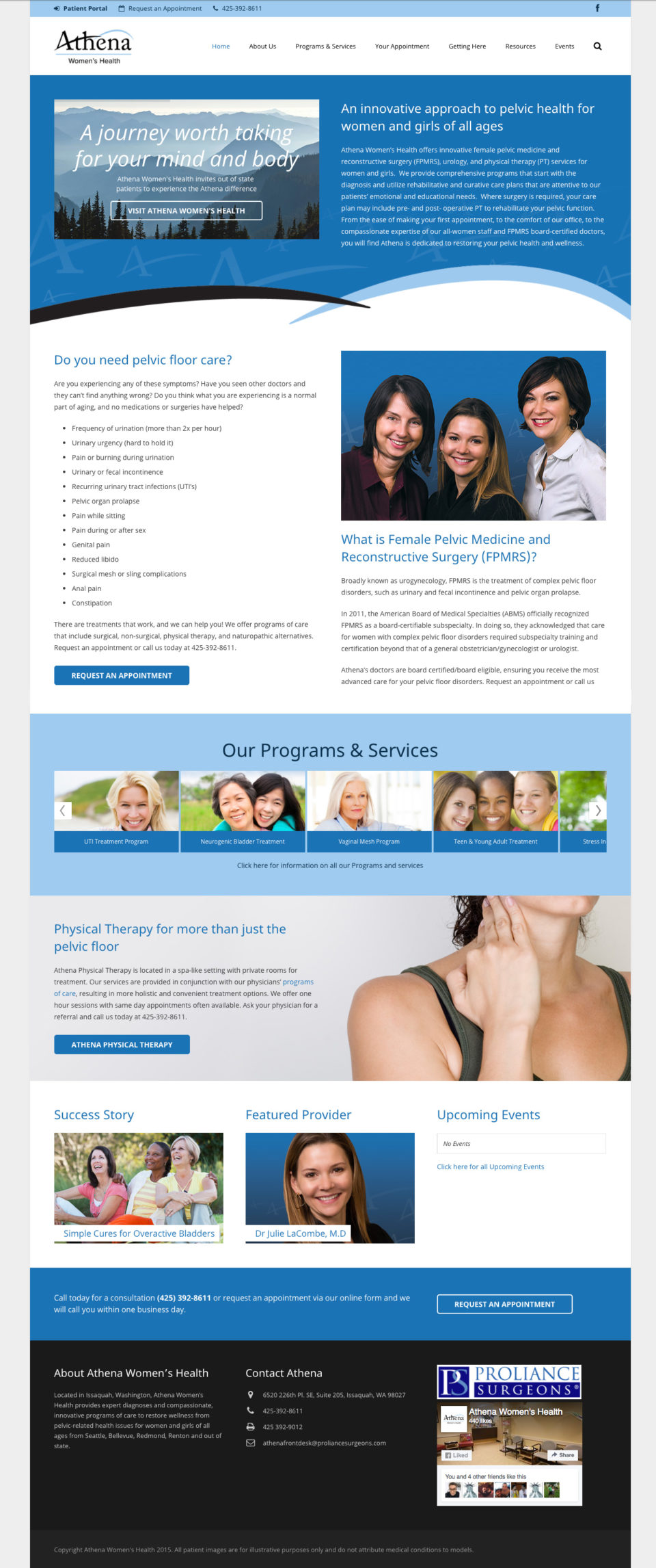 Athena Women's Health home page