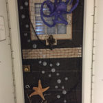 Halloween door 2017 - unlit
