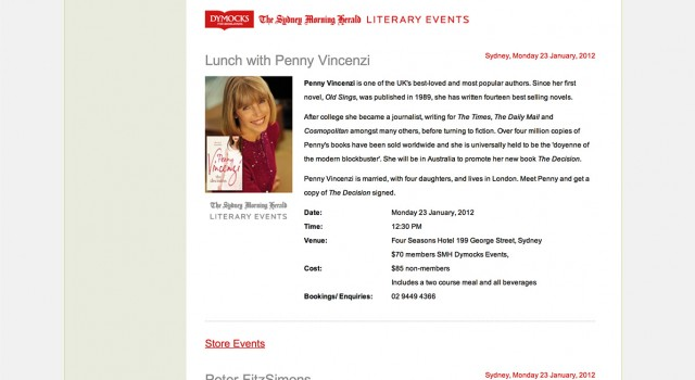 Dymocks Events