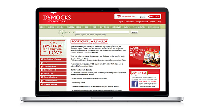 Dymocks Booklover Loyalty Program