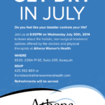 Newspaper advertisement for Athena Women's Health